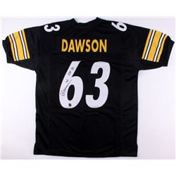 "Dermontii Dawson Signed Steelers Jersey Inscribed ""HOF 12"" (Jersey Source COA)"