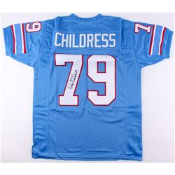 Ray Childress Signed Oilers Jersey (JSA COA)