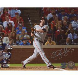 Aubrey Huff Signed Giants 8x10 Photo (MLB Hologram, FSC COA  Huff Hologram)