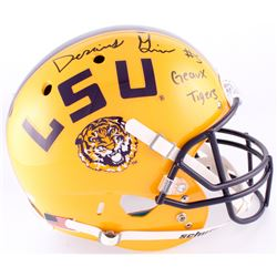 "Derrius Guice Signed LSU Tigers Full-Sized Helmet Inscribed ""Geaux Tigers"" (JSA COA)"