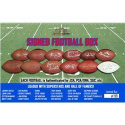"Sportscards.com ""Football Box"" - Mystery Superstar or HOF'er Signed Football"