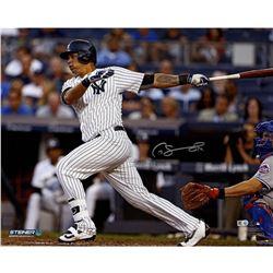 "Gary Sanchez Signed Yankees ""Swinging"" 16x20 Photo (Steiner COA)"