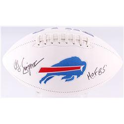 "O. J. Simpson Signed Bills Logo Football Inscribed ""H.O.F. 85'"" (JSA COA)"