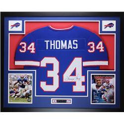 """Thurman Thomas Signed Bills 35"""" x 43"""" Custom Framed Jersey (JSA COA)"""