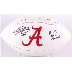 "Eddie Lacy Signed Alabama Crimson Tide Logo Football Inscribed ""11 + 12 BCS Champs"" (GTSM Hologram)"
