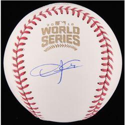 Dexter Fowler Signed 2016 World Series Baseball (Schwartz Sports COA)