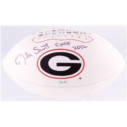 "Jake Scott Signed Georgia Bulldogs Logo Football Inscribed ""CHOF 2012"" (Radtke COA)"
