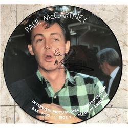 Paul McCartney Signed LE Vinyl Picture Disc (Beckett COA)
