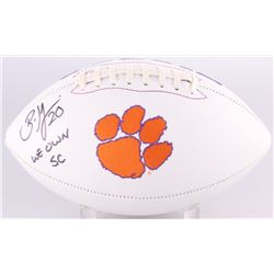 Brian Dawkins Signed Clemson Tigers Logo Football (Radtke Hologram)