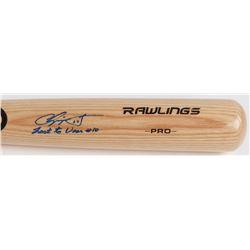 """Chipper Jones Signed Rawlings Pro Baseball Bat Inscribed """"Last To Wear #10"""" (JSA COA)"""