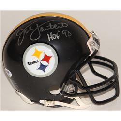 "Jack Lambert Signed Steelers Mini-Helmet Inscribed ""HOF '90"" (PSA COA)"