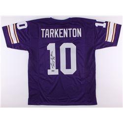 "Fran Tarkenton Signed Vikings Jersey Inscribed ""HOF 86"" (Radtke COA)"