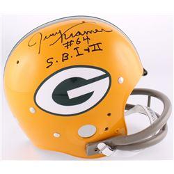 "Jerry Kramer Signed Packers Full-Size TK Suspension Helmet Inscribed ""S.B.I +II"" (Radtke Hologram)"