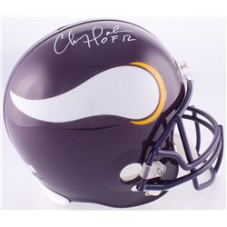 """Chris Doleman Signed Vikings Full-Size Helmet Inscribed """"HOF 12"""" (Radtke COA)"""