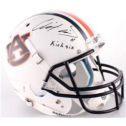 "Chris Davis Jr. Signed Auburn Tigers Full-Size Helmet Inscribed ""Kick Six"" (Radtke COA)"