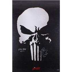"Jon Bernthal  Ebon Moss-Bachrach Signed ""The Punisher"" 24x36 Movie Poster Inscribed ""Micro"" (Radtke"