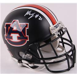 Kerryon Johnson Signed Auburn Tigers Authetic On-Field Custom Matte Black Helmet (Radtke COA)