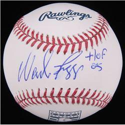 """Wade Boggs Signed Hall Of Fame Logo Baseball Inscribed """"HOF 05"""" (Radtke Hologram)"""