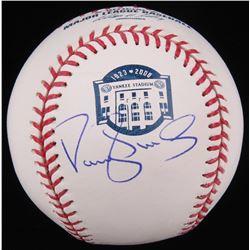 Darryl Strawberry Signed OML Yankee Stadium Logo Baseball (Radtke Hologram)