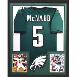 Donovan McNabb Signed Eagles 34x42 Custom Framed Jersey (Radtke COA)