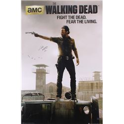 """Chandler Riggs Signed """"The Walking Dead"""" 24x36 Poster Inscribed """"Carl"""" (Radtke COA)"""