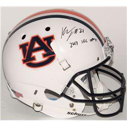 "Kerryon Johnson Signed Auburn Tigers Full-Size Helmet Inscribed ""2017 SEC OPOY!"" (Radtke COA)"