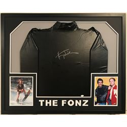 "Henry ""Fonz"" Winkler Signed 34x42 Custom Framed ""Happy Days The Fonz"" Jacket Display  (JSA COA)"