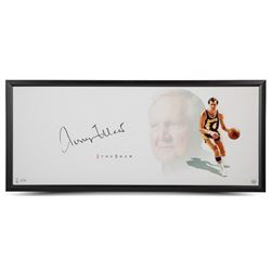"""Jerry West Signed Lakers """"The Show"""" 20x46 Custom Framed Photo Display (UDA COA)"""