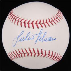 Julio Teheran Signed OML Baseball (MLB Hologram)