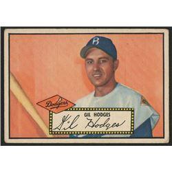 1952 Topps #36A Gil Hodges Black