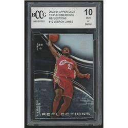 2003-04 Upper Deck Triple Dimensions Reflections #10 LeBron James (BCCG 10)