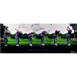 """Tiger Woods Signed """"Art of the Swing"""" 15x36 Limited Edition Panoramic Photo (UDA COA)"""