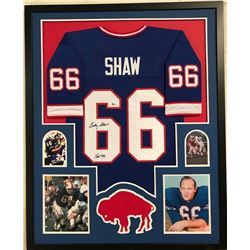 Billy Shaw Signed Bills 34x42 Custom Framed Jersey (Beckett COA)