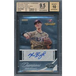 2013 USA Baseball Champions National Team Certified Signatures #2 Kris Bryant /299 (BGS 9.5)