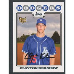 2008 Topps Update #UH240 Clayton Kershaw RC