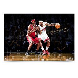 "LeBron James Signed Heat ""First  Ten"" 16x24 Limited Edition Photo (UDA COA)"