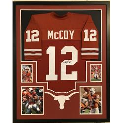 Colt McCoy Signed Texas Longhorns 34x42 Custom Framed Jersey Display (JSA COA)