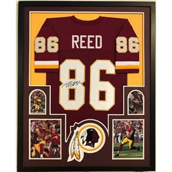 Jordan Reed Signed Redskins 34x42 Custom Framed Jersey Display (JSA COA)