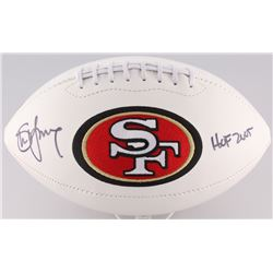 "Steve Young Signed 49ers Logo Football Inscribed ""HOF 2005"" (Radtke Hologram  Young Hologram)"