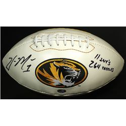 "William Moore Signed Missouri Tigers Logo Football Inscribed ""11 INT'S 264 TACKLES"" (Radtke COA)"