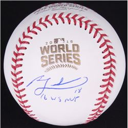 "Ben Zobrist Signed 2016 World Series Baseball Inscribed ""16 WS MVP"" (JSA COA)"