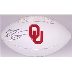 Brian Bosworth Signed Oklahoma Sooners Logo Football (JSA COA)