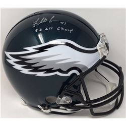 "Fletcher Cox Signed Eagles Full-Size Authentic On-Field Helmet Inscribed ""SB LII Champs"" (Fanatics H"