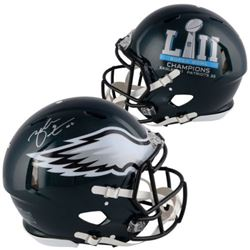 Zach Ertz Signed Eagles Super Bowl LII On-Field Full-Size Speed Helmet (Fanatics Hologram)