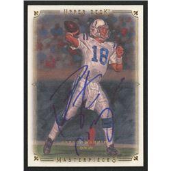 Peyton Manning Signed 2008 UD Masterpieces #68 (PSA COA)