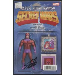"Stan Lee Signed ""Marvel Super Heroes Secret Wars"" Comic Book (Stan Lee COA)"