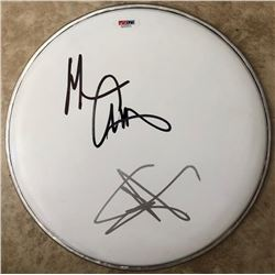 "Sammy Hagar  Michael Anthony Signed ""Van Halen"" Drumhead (PSA COA)"
