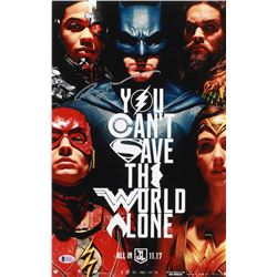 "Ben Affleck Signed ""Justice League"" 11x17 Movie Poster (Beckett COA)"