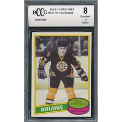 1980-81 O-Pee-Chee #140 Ray Bourque RC (BCCG 8)