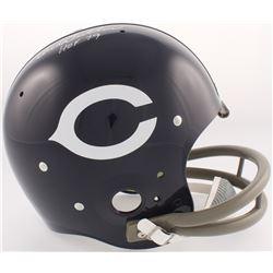 Dick Butkus Signed Bears Throwback TK Suspension Full-Size Helmet (JSA COA)